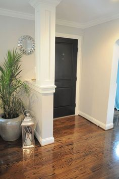 Living Room Makeover  This column would be perfect for our entry after getting rid of the spindles. e