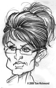 Sarah Palin  (by Tom Richmond)