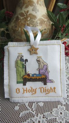 Counted cross stitch nativity Christmas by lilshopinthevalley, Cross Stitch Christmas Cards, Christmas Cross, Xmas, Counted Cross Stitch Patterns, Cross Stitch Embroidery, Cross Stitch Finishing, Nativity Crafts, Cross Stitch Needles, Christmas Embroidery