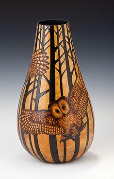 Gourd Art ~ OWL!