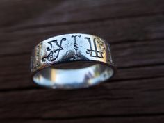 Sterling silver love ring inside inscription, from my soul.  $28.00