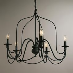 $135, Dining room. WAS ON FIXER UPPER! on sale at world market Rustic Wire Chandelier | World Market