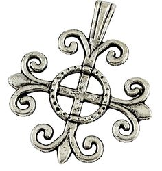 12 Spanish Cross Charms Antique Silver 4905AS by HHHdesigns
