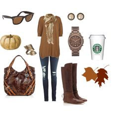 Fall... I love how the Starbucks cup is an accessory :) Probably the most important piece of that outfit!