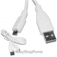 CAVO DATI MICROUSB UNIVERSALE USB 1 METRO BIANCO WHITE NEW NUOVO - SU WWW.MAXYSHOPPOWER.COM