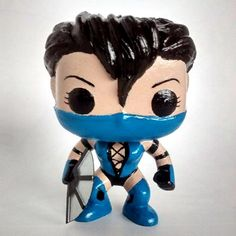 My DIY custom funko pop! that I made. Kitana from Mortal Kombat :)  #customfunkopop #mortalkombat #kitana