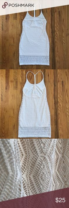 "Hurley Crochet Lace Tank Dress with Lining Crochet Lace Tank Dress with Poly Lining. 38"" length. Never worn, just hemmed the dress. Hurley Dresses Midi"