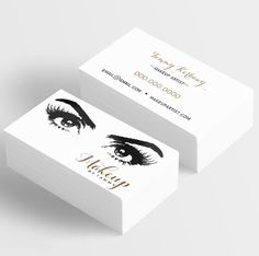 Business Card templates for Makeup Artists. These are completely customizable and can be used for many different professions and direct sales companies. Salon Owners, Estheticians, Younique Presenter. If you'd like to order a custom design and need assistance, please email tammy@itwvisions.com. Thank you!