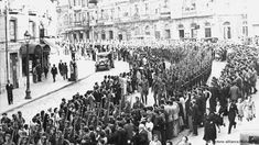 The Condor Legion takes part in a victory parade in Madrid on May 19, 1939