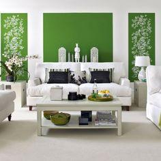 Symmetrische Wandgestaltung Wohnzimmer Geometrisch