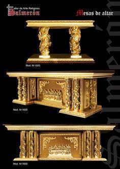 Mesas de altar Altar Design, Church Design, Cathedral Basilica, Cathedral Church, Gothic Furniture, Luxury Furniture, Furniture Design, Law Office Decor, Ganapati Decoration