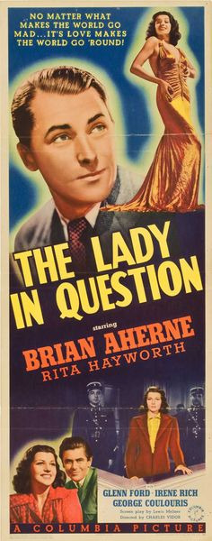 Best Film Posters : – Picture : – Description the lady in question 1940 -Read More – Good Girl, Up Girl, Old Movie Posters, Movie Poster Art, Vintage Posters, Old Movies, Vintage Movies, Tv Show Music, Columbia Pictures