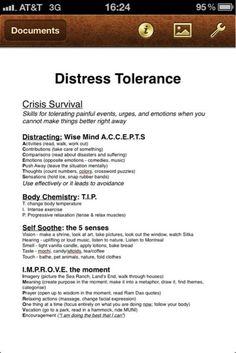 DBT Mindfulness Exercise  Homework Assignment     Adapted from         MONDAY     HOMEWORK