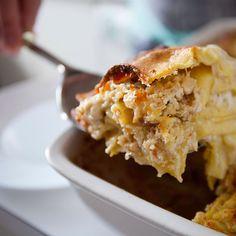 Chicken and Peanuts Lasagna