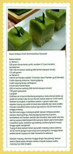 Kuih seri muka Lapis Legit, Resep Cake, Steamed Cake, Brokat, Asian Desserts, Agar, Recipe Cards, Tiramisu, Food And Drink