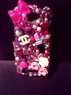 Bedazzled cell phone cases.