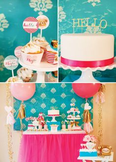Sweet Call Me Maybe Kids Valentines Party .. I just love the colours of this party!