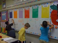 """Use a """"Graffiti Wall"""" to let students review curriculum materials with fun and creativity! #edchat #educhat"""