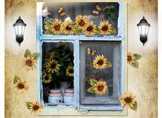 Sunflower Wall Decal - Sun flowers wall sticker