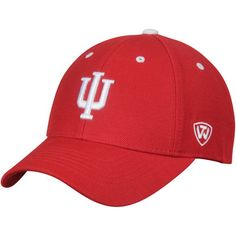 3372526d97e Indiana Hoosiers Top of the World Triple Threat Adjustable Hat - Crimson