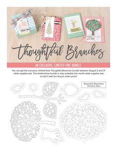 Hello, crafty friends. I have a sympathy card to share with you today using the beautiful Limited Time stamp set called Thoughtful Branche...