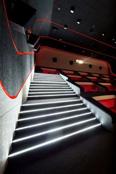 Multiplex Atmocphere cinema by Sergey Makhno on Interior Design Served Home Theater Room Design, Home Cinema Room, At Home Movie Theater, Home Theater Rooms, Theatre Design, Home Theater Seating, Cinema Theater, Theater Architecture, Modern Architecture