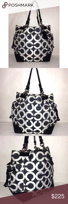 Authentic Coach Signature Peyton Op Art Tote Bag Pretty much one of my most all-time favs! Love love love. Coach Bags Totes