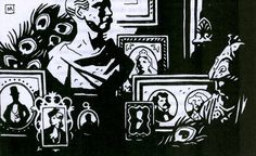 Illustration by Mike Mignola. Click to enlarge