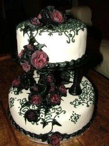 Gothic wedding cakes uk