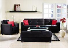 SU Elegant Sectional Sofa Rainbow BlackRHF