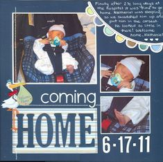 Image result for baby scrapbook pages #scrapbooking101
