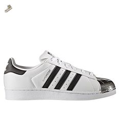 adidas Superstar Metal Toe Womens Trainers White Silver Blue - 5 UK - Adidas  sneakers for