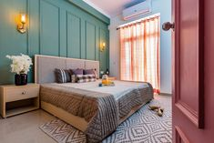 A Calm and Beautiful Home in the busy Noida City Architectural Design Magazine, Bed Design, House Design, Indian Bedroom Decor, Dream House Plans, Apartment Interior, Home Interior Design, Beautiful Homes, Architects