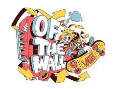 Vans Wallpaper: Off the wall on Behance Posca Marker, Graffiti Characters, Skate Art, Cool Vans, Skateboard Art, Grafik Design, Design Reference, Art Logo, Graffiti Art
