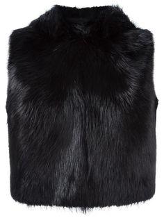 GIUSEPPE ZANOTTI fur sleeveless jacket. #giuseppezanotti #cloth #jacket