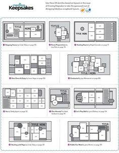 scrapbook sketches, MAPA , LINK DO PDF