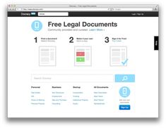 Docracy is a social repository of legal documents. Docracy's mission is to make useful legal documents freely available to the public.