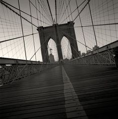 Bridge in NYC -Black and White- Photo by Michael Kenna