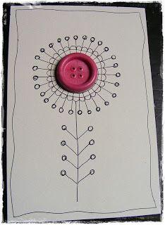 Ari kreatívságai: Gombvirágok, button flower