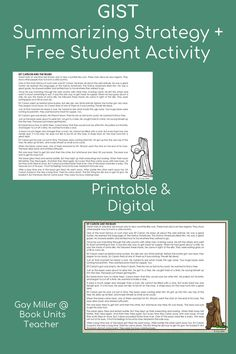 Check out these ideas for teaching summarizing including free printables. Great for upper elementary and middle school students. Help Teaching, Teaching Strategies, Creative Teaching, Student Teaching, Teaching Reading, Learning Activities, Teaching Resources, Summary Writing, Context Clues