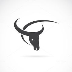 Vector image of an buffalo design by yod67 on @creativework247
