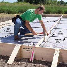 Form and Pour a Concrete Patio