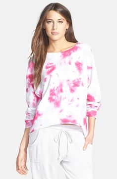 Marc New York by Andrew Marc Tie Dye High/Low French Terry Sweatshirt available at #Nordstrom