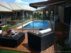Like brick colours, pool fence and pool- Compass Pools Australia