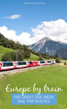 Europe by train: Five great one-week rail trip routes: You don't need months to spare to see Europe by train five of the best mini European rail adventures with routes in Northern and Eastern Europe Italy Spain & Portugal and Scandinavia. Vacation Destinations, Dream Vacations, Vacation List, Vacation Resorts, Oh The Places You'll Go, Places To Travel, Trains, Bon Plan Voyage, Europe Train