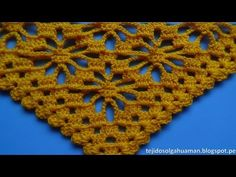 chal tejido a crochet paso a paso en punto arañitas video 1 - YouTube