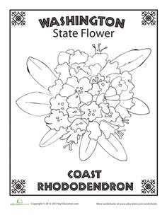 Washington State outline Coloring Page | CC Cycle 3 Week 10 ...