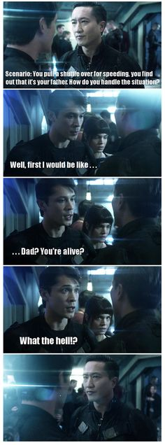 Hahhhahhaha I love this so much || Bellamy Blake || Emergency Response by undeadpoetiics (tumblr) || The 100