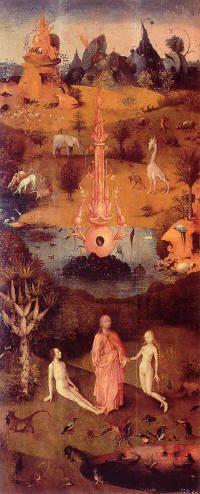 Jérome Bosch. Le Paradis. 1500 Musée du Prado. Madrid