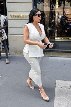 Kim Kardashian in Paris July 21, 2015